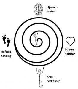 Stressbehandlingsforløb hos Fillipsen, vi skal igennem hjernetanker, hjertetanker, kropreaktioner og adfærdhandling